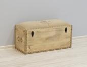 Pufo-skrzynia indyjska z litego drewna w stylu LOFT z pojemnikem