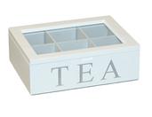 Drewniane pudełko skrzynka na herbatę